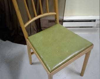 Vintage all original wood folding chair with vinyle seat