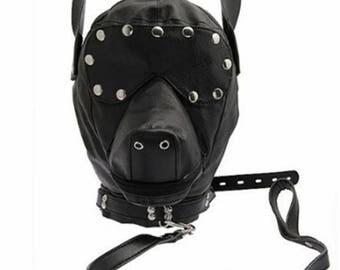 S&M Dog Harness Mask