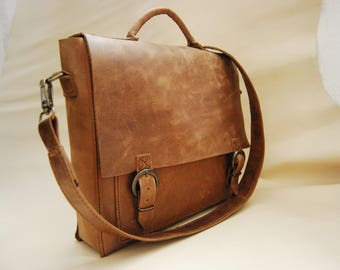 Leather Messenger Bag/Backpack