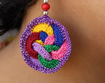 100% allergy free Thread Crochet earings