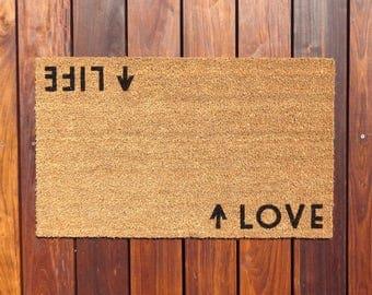 Life/Love Door Mat (doormat) - perfect housewarming gift