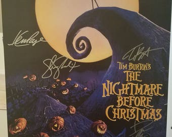 The Nightmare Before Christmas - Original hand-signed poster 27x40
