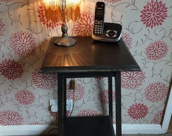 Upcycled side table/ lamp stand