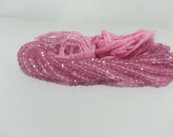 Pink Topaz Faceted Rondelle Beads Strand | Topaz Beads Strand | Faceted Topaz Beads | Natural Pink Beads | Topaz Rondelle Beads | Wholesale