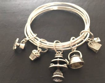 Time for tea charm bracelet