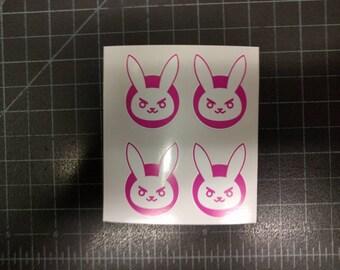 D.Va DVa Overwatch Bunny 4 Mini Decals