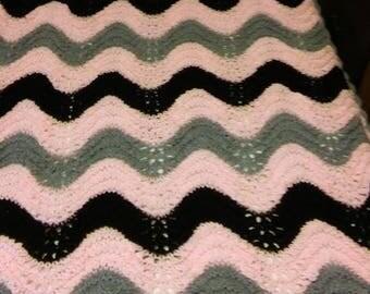 Knit twin sized blanket