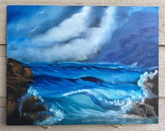 Crashing Waves - Oil painting on canvas