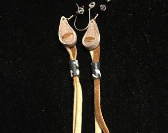 Caribou antler earrings