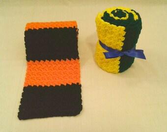 Two-Tone Crochet Scarf