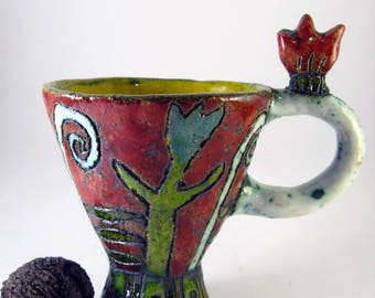 hand made ceramic mug, Teacup, coffeecap