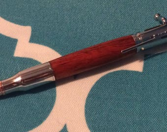 Handmade Cocobolo Wood 30 Caliber Bolt Action Pen Personalized Option