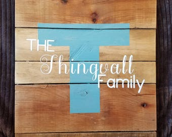 Custom Family Established Sign
