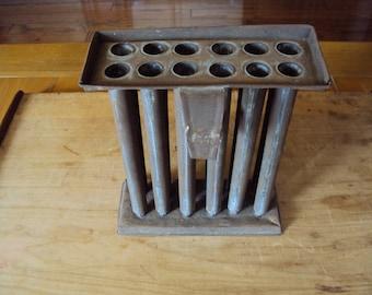 Tin Candle Mold, Twelve Tube Mold, Farmhouse Antiques, Primitive Antiques, Old Candle Mold, Antique Mold, Primitive Candle Mold