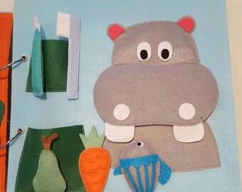 Montessori book of felt