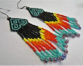 Ethnic BO in woven beads