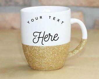Custom Glitter Coffee Mugs