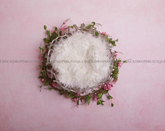 Rustic and Natural Digital Backdrops for Newborn Photographers - CHERRY BLOSSOM