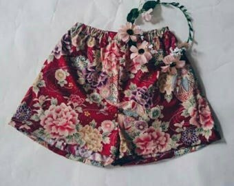 China Doll Shorts - Red Oriental