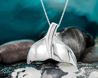 Whale Tail Necklace Pendant