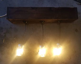 Rustic Design Mason Jar Pendant Light Fixture