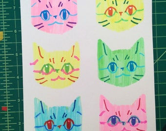 Stenciled Cats