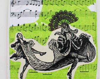 The Dance Mixed Media Collage Tile