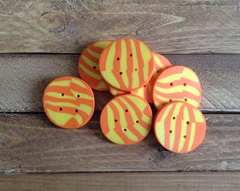 Buttons, Polymer Clay, Craft Supplies, Sewing Supplies, set of 2