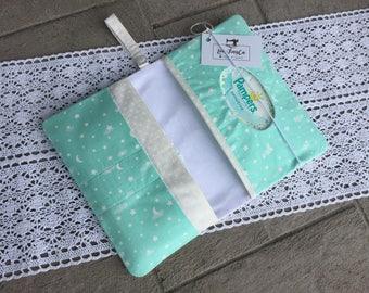 Teal Stars Lullaby Diaper Clutch/Diaperclutchbag/Diaper pouch / mommyclutch