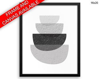 Artsy Canvas Art Scandinavian Printed Artsy  Framed Art Scandinavian Geometric Art Black And Gray Scandinavian Print Geometric Print