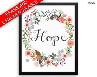Hope Wall Art Framed Hope Canvas Print Hope Framed Wall Art Hope Poster Hope Inspirational Art Hope Inspirational Print Hope Religious