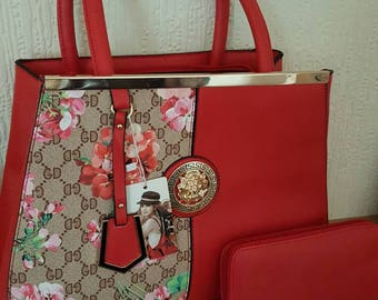Gorgeous Red day bag with complementary purse