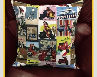 Vespa scooter cushion cover