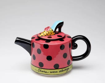 Shoe Teapot - Shoes on Her Mind (61891)