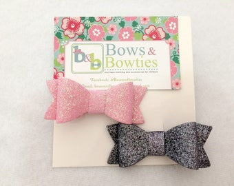 2 Piece Bow Hairclip Set - Baby Girl/ Girls