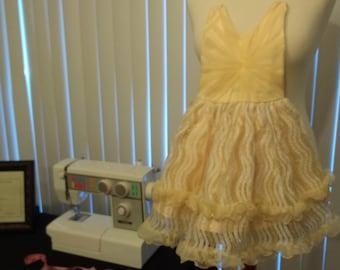 Girl Golden Dress