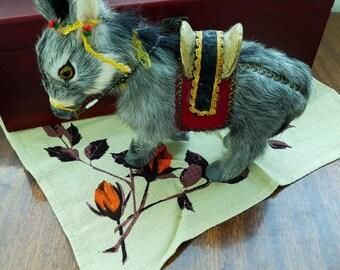 Donkey,Needle Felted Donkey, Handmade Donkey, Needle Felted Animals , Felted Donkey, Gift for Her, Felted Burro, Felt Animals