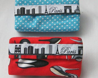 handkerchief pouch with  Paris skyline