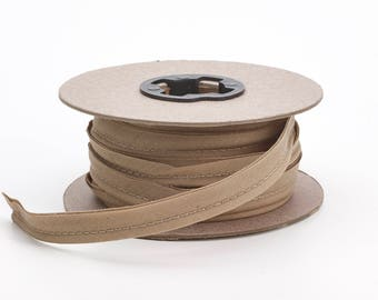 """Broadcloth cord piping, 1/2"""" Wide, 15 yds, Khaki"""