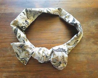 Fabric headband tie headband headscarf bow knot