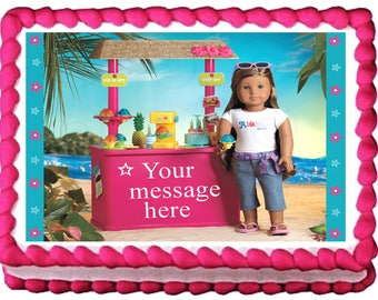AMERICAN GIRL KANANI Edible cake topper party image