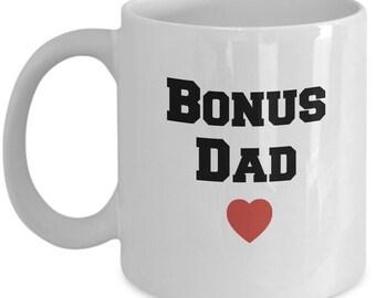 Step Dad Gifts – Bonus Dad Coffee Mug– Perfect Father's Day Gift Coffee Cup for Stepdad, Stepfather, 11 Oz.