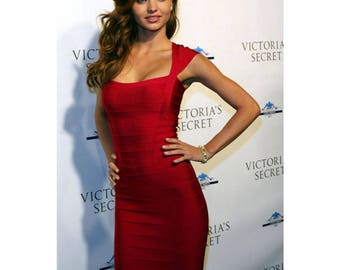 Scarlet red Bandage dress