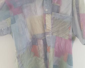 Mens XL Vintage colourful shirt