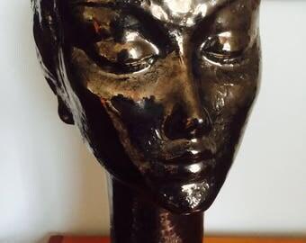 Bitossi Rare female head sculpture