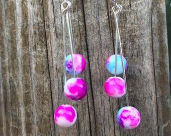 Watercolor earrings,dangle