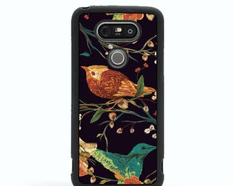 LG G5 case LG G3 Case Rubber case Birds Nature