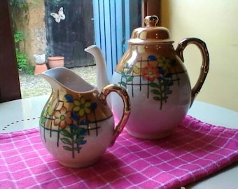 Tea Pot and Milk Jug - Japanese vintage set