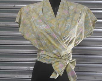 1950s wrap blouse