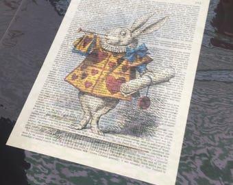 Various Alice in wonderland prints